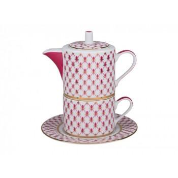 Набор для чая форма Соло рисунок Сетка-блюз (в подарочной упаковке)