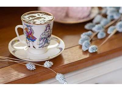 Красивые кофейные чашки