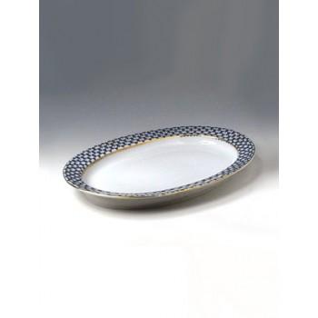 Блюдо овальное Кобальтовая сетка 350 мм