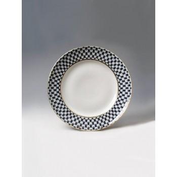 Блюдо круглое Кобальтовая сетка 300 мм