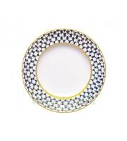 Блюдо круглое 300 мм форма Молодежная рисунок Кобальтовая сетка