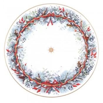 Блюдо круглое 320мм форма Стандартная-2 рисунок Календа