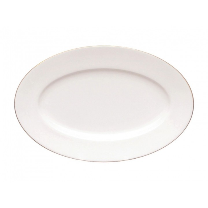 Блюдо овальное 300 мм форма Стандартная рисунок Золотая лента