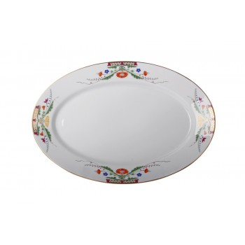 Блюдо овальное форма Европейская рисунок Замоскворечье (40*29,5 см)