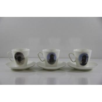 Подарочный набор 3/6 Черный кофе Ежик в тумане