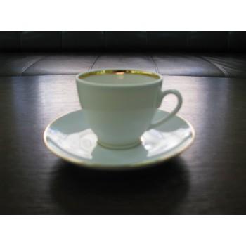 Чашка с блюдцем кофейная Весенняя Белоснежка