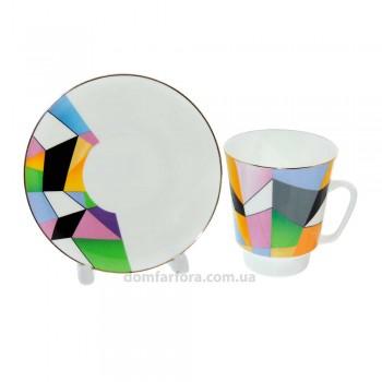 Чашка с блюдцем форма Майская рисунок Движение 1