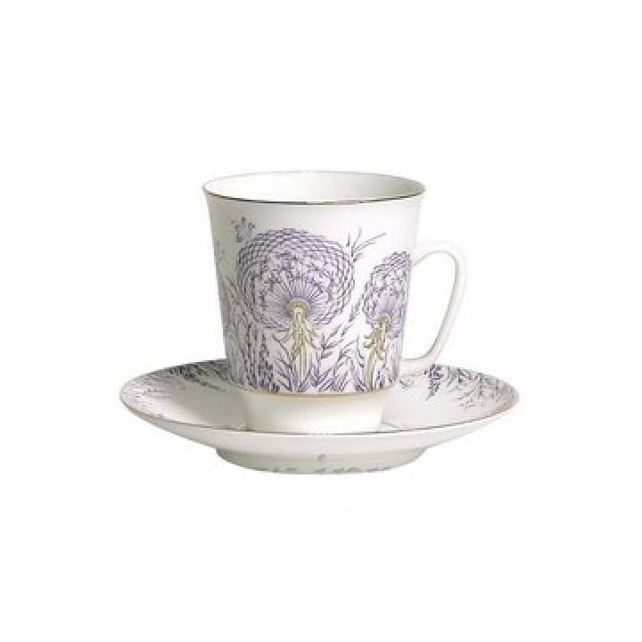 Чашка с блюдцем форма Майская рисунок Одуванчики