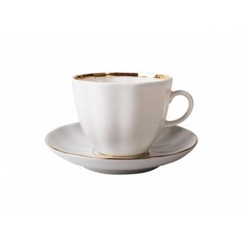 Чашка с блюдцем кофейная форма Тюльпан рисунок Белоснежка