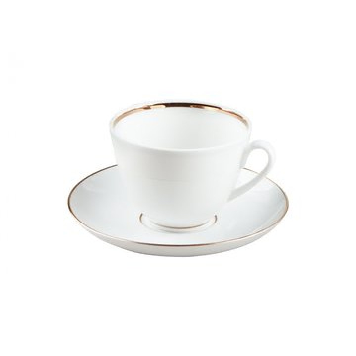 Чашка с блюдцем кофейная форма Весенняя рисунок Белоснежка