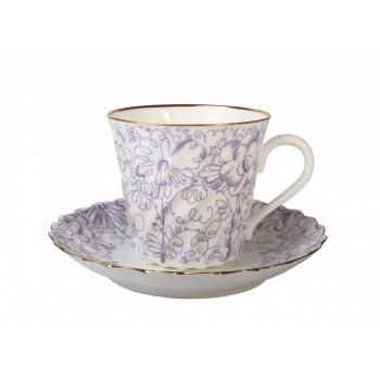 Чашка с блюдцем кофейная форма Витая рисунок Садик