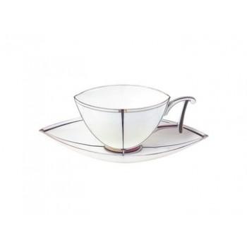 Чашка с блюдцем чайная  форма Ковчег рисунок Ковчег