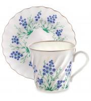 Чашка с блюдцем кофейная форма Витая у ручья