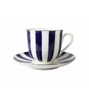 Чашка с блюдцем форма Ландыш рисунок Да и нет кобальт