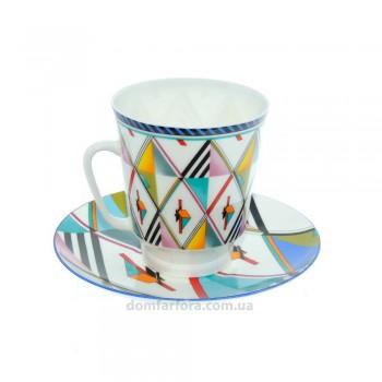 Чашка с блюдцем форма Майская рисунок Движение 3