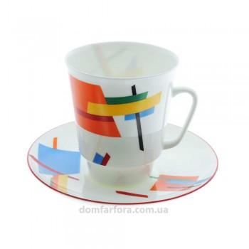 Чашка с блюдцем форма Майская рисунок Движение 5