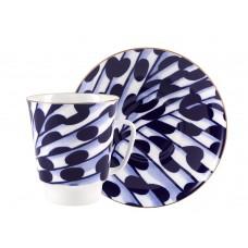 Чашка с блюдцем форма майская рисунок Melody