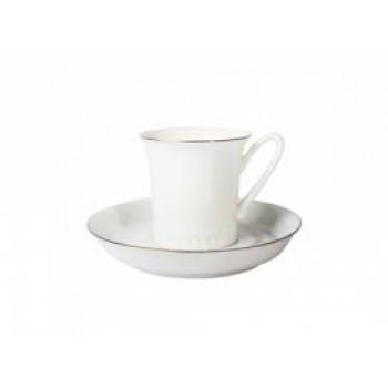 Чашка с блюдцем Вертикаль Золотая отводка