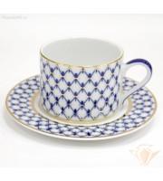 Чашка с блюдцем 265 мл форма Соло рисунок Кобальтовая сетка