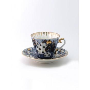 Чашка с блюдцем форма Лучистая рисунок Перезвоны