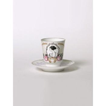 Чашка с блюдцем чайная Майская Посвящение Анне Андреевне