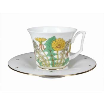 Чашка с блюдцем форма Юлия рисунок Солнечный букет