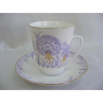 Чашка с блюдцем чайная Майская Одуванчики