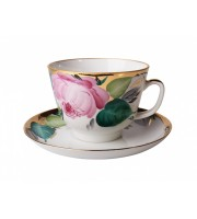 Чашка с блюдцем форма Подарочная рисунок Любовь