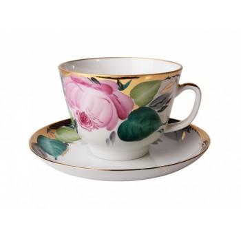 Чашка с блюдцем чайная форма Подарочная рисунок Любовь