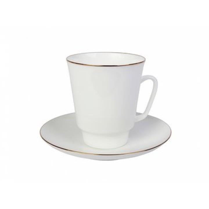 Чашка с блюдцем форма Майская рисунок Золотой кантик