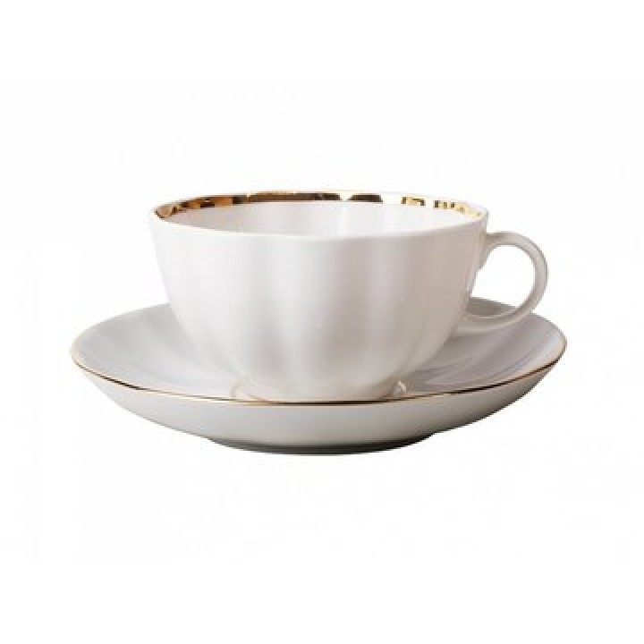 Чашка с блюдцем форма Тюльпан рисунок Белоснежка