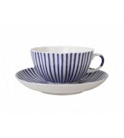 Чашка с блюдцем чайная форма Тюльпан рисунок Французик