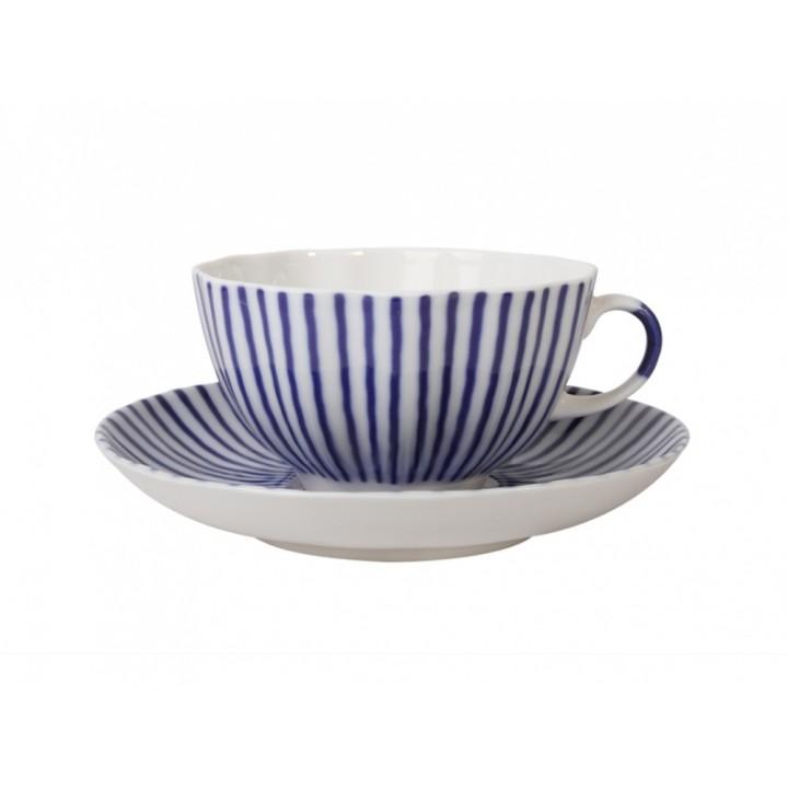 Чашка с блюдцем форма Тюльпан рисунок Французик
