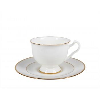 Чашка с блюдцем форма Айседора рисунок Золотая лента