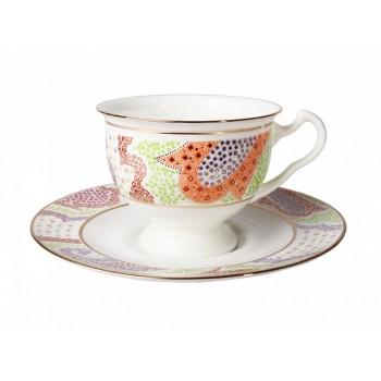 Чашка с блюдцем форма Айседора рисунок Мариенталь Оранжевый