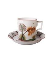 Чашка с блюдцем чайная форма Гербовая рисунок Осень