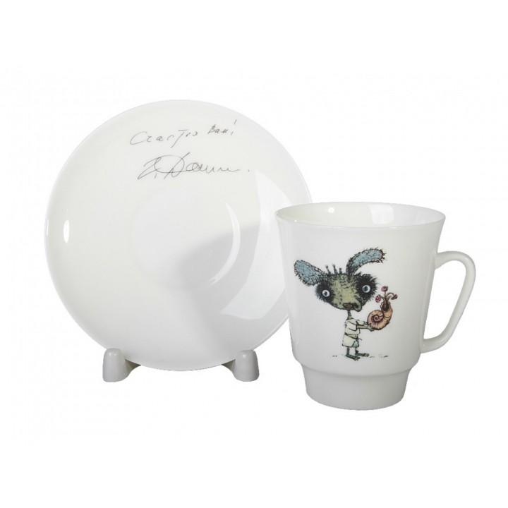Чашка с блюдцем форма Майская рисунок Фитюлька. Автор идеи Георгий Данелия.