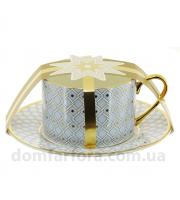 Чашка с блюдцем чайная форма Идиллия рисунок Азур 2 - Эксклюзивный подарок