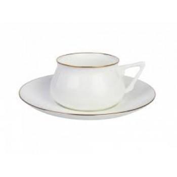 Чашка с блюдцем форма Билибина рисунок Золотой кантик1