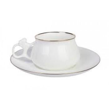 Чашка с блюдцем форма Билибина рисунок Золотой кантик