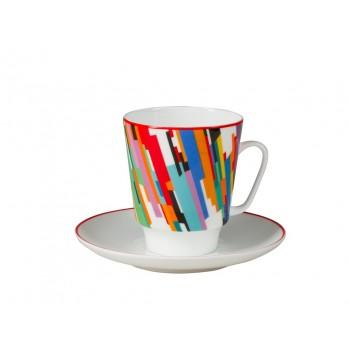 Чашка с блюдцем форма майская рисунок Движение 2