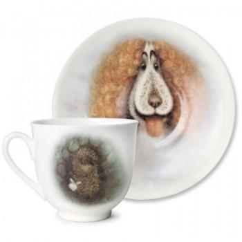 Подарочный набор форма Ландыш рисунок Ежик в тумане Пес
