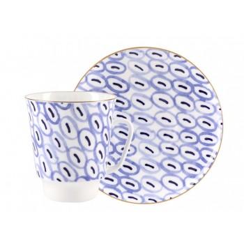 Чашка с блюдцем  форма Mайская рисунок Easy