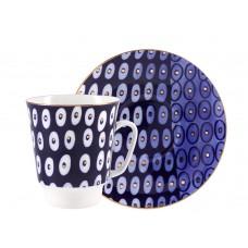 Чашка с блюдцем форма Майская рисунок Clear