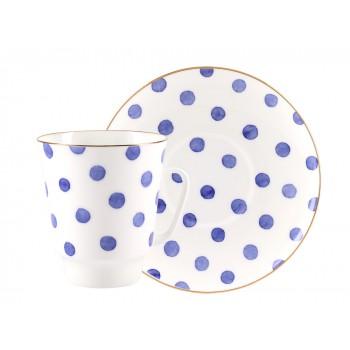 Чашка с блюдцем форма Майская рисунок Polka dot