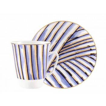 Чашка с блюдцем форма Майская рисунок Pure