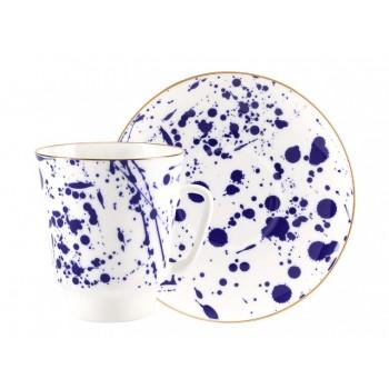 Чашка с блюдцем форма Майская рисунок Splash