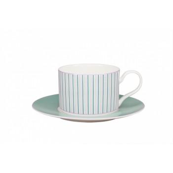 Чашка с блюдцем форма Премиум рисунок Чайная симфония