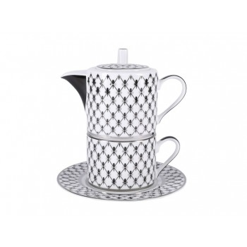 Набор для чая форма Соло рисунок Платиновая сетка ( в подарочной упаковке)