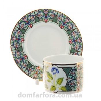 Чашка с блюдцем форма Соло рисунок Фиалка надрезанная